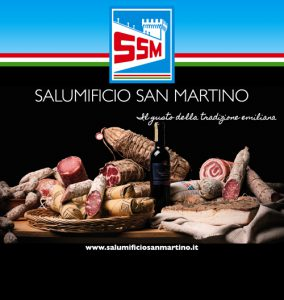 striscione salumificio San Martino di San Martino in Rio (RE)